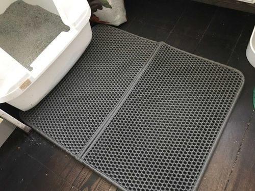 Dvouvrstvá rohožka před kočičí záchod photo review