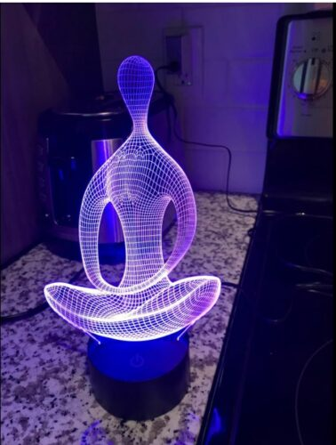 3D Illusion LED lampa photo review